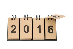 New Year 2016 is coming concept. Happy New Year 2016 replace 2015 concept isolated on white background. This picture have clipping path for easy to use.