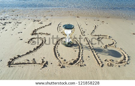 New year is coming on a sand beach of Eilat, Israel