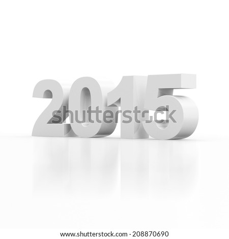 New Year 2015 isolated on white background