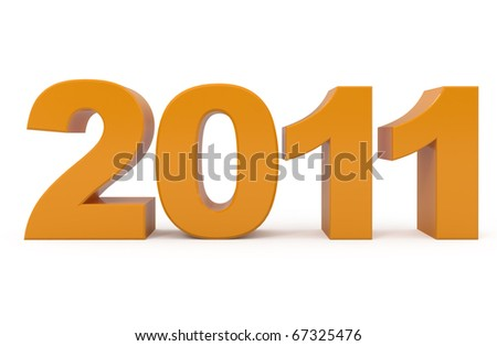New Year 2011 isolated on white - 3d illustration