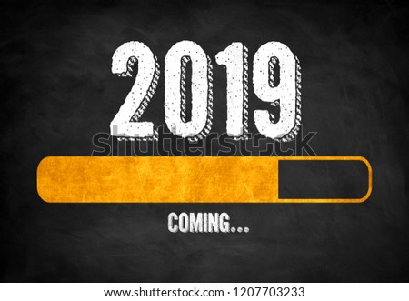 New Year 2019 loading status #1207703233