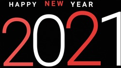 New year. New year alphabet in black background. New year colourful background. 2021 new year.