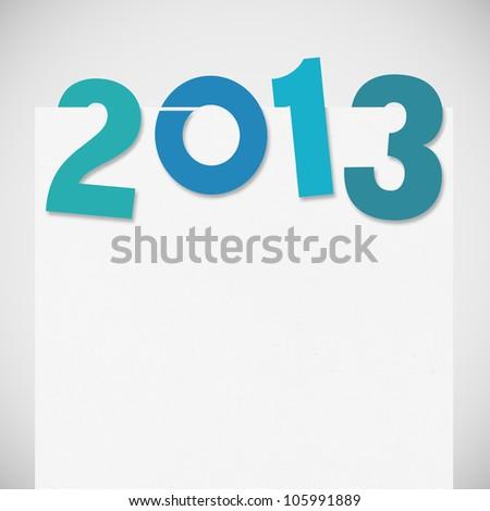 new year 2013 ,new year card ,paper design