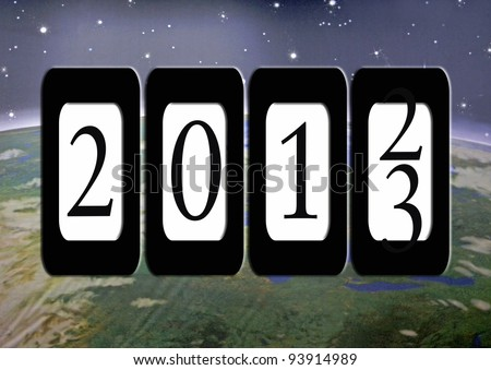new year odometer for 2013