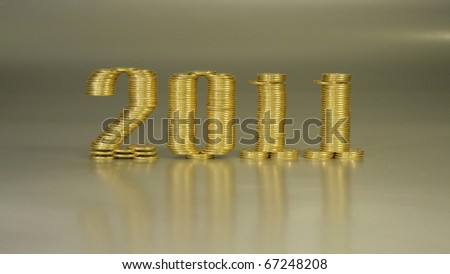 new year on a silver background