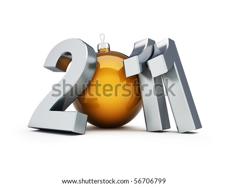 new year 2011 on a white background