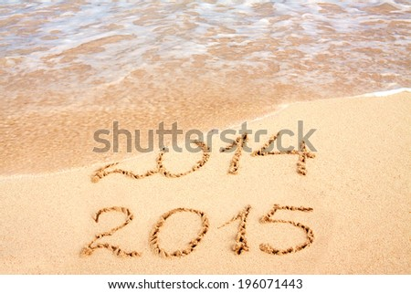 New year 2015 on the beach. #196071443