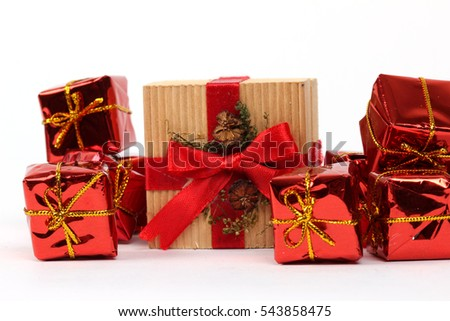 Gift packages in various shapes are prepared for special