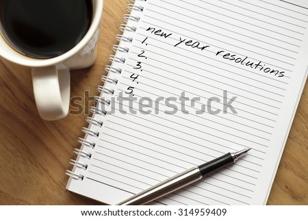 New year resolution conceptual