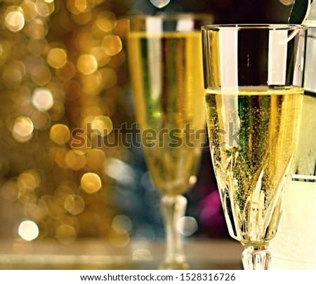 New Year's celebration stock photo