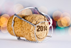 New Year's Eve/Champagne cork new year's 2014