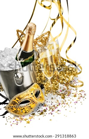 New Year\'s Eve, Champagne, Party.