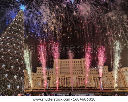 New Year's Eve fireworks in Bucharest