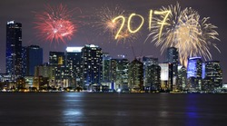 New Year's Eve in Miami, USA