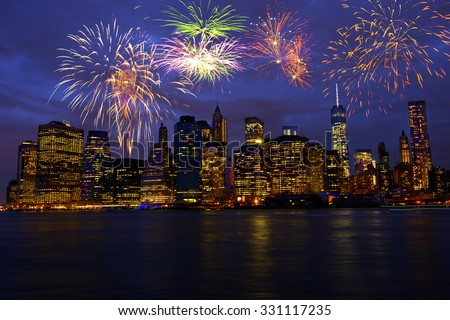New Year's Eve in New York City, USA #331117235