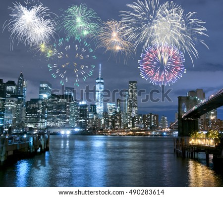 New Year\'s Eve in New York City, USA