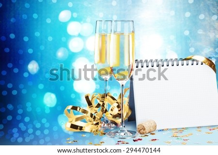New Year\'s Eve, New Year\'s Day, Champagne.