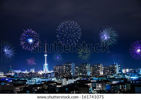 new year's eve with fireworks in berlin