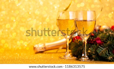 New Year's Eve with wine #1186313575