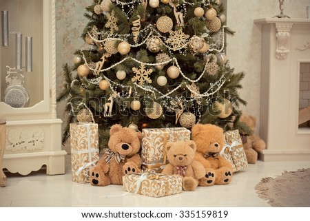 christmas tree christmas christmas tree gifts and toys under - Under Christmas Tree Decorations