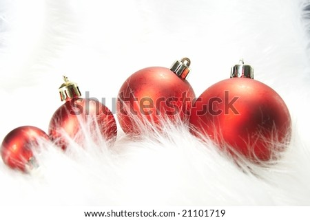 New Year's spheres - stock photo