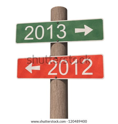 New Year 2013 sign 3D illustration