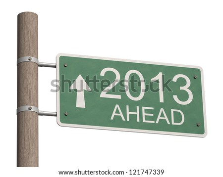 New Year 2013 sign. 3d illustration.