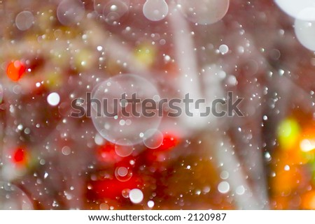 New year snow bokeh background.