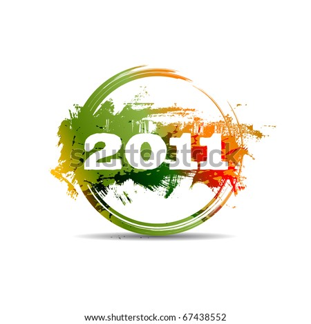 New year 2011 stamp. Raster version