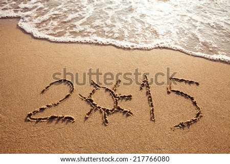 new year 2015, summer vacations on the beach #217766080