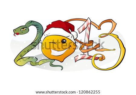 New Year 2013: The illustration of the 2013 Concept