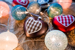 New Year toys in form of heart