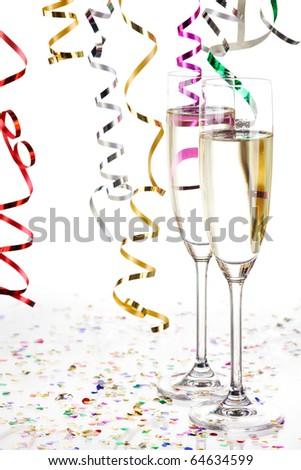 new years decoration on white background