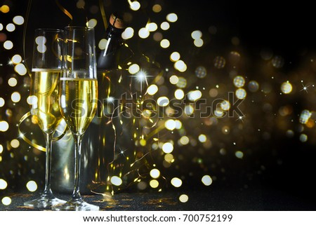 New Years Eve celebration background #700752199
