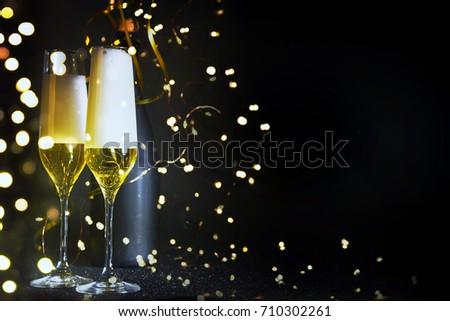 New Years Eve celebration background #710302261