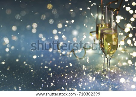New Years Eve celebration background #710302399