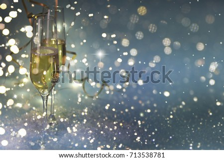 New Years Eve celebration background #713538781