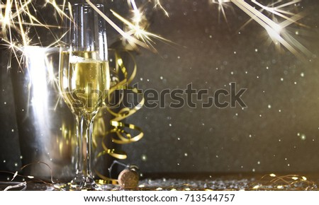 New Years Eve celebration background #713544757