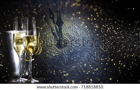 New Years Eve celebration background #718818850