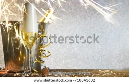 New Years Eve celebration background #718841632