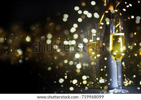 New Years Eve celebration background #719968099