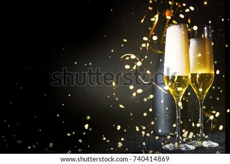 New Years Eve celebration background #740414869