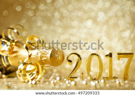 New years eve celebration background with champagne #497209333