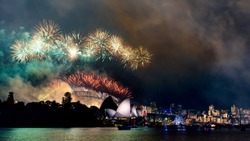 New Years Eve Fireworks and Celebration in Sydney, Australia