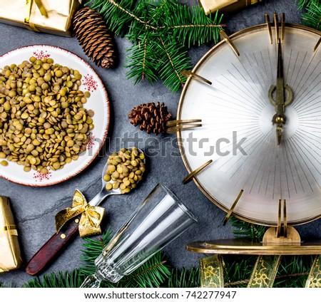 new years eve ritual. eat spoon ...