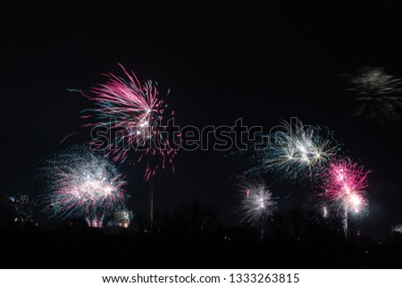 New years eve with fireworks