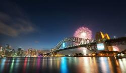 New Years Fireworks, Australia taken in 2014
