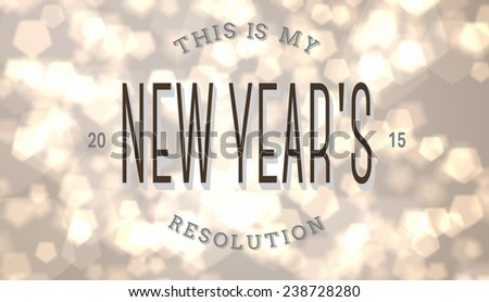 New years resolution against light glowing dots design pattern