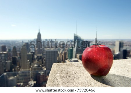 new york, apple