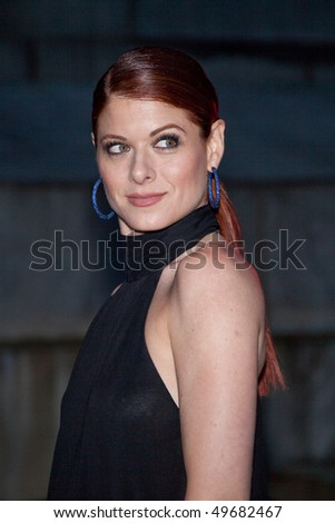 NEW YORK - APRIL 21: Actress Debra Messing attends the Vanity Fair party during the 8th annual Tribeca Film Festival at the State Supreme Courthouse April 21, 2009 in New York.